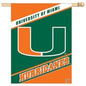 "Miami Hurricanes 27""x37"" Banner"
