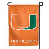 """Miami Hurricanes 11""""x15"""" Garden Flag"""