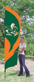 Miami  Hurricanes Tall Team Flag