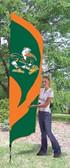 Miami  Hurricanes Tall Team Flag