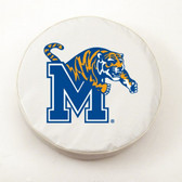 Memphis Tigers White Tire Cover, Large
