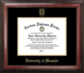 Memphis Tigers Gold Embossed Diploma Frame