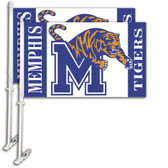 Memphis Tigers Car Flag w/Wall Bracket Set Of 2