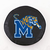 Memphis Tigers Black Tire Cover, Large