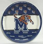 "Memphis Tigers 9"" Dinner Paper Plates"