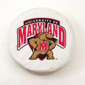 Maryland Terrapins White Tire Cover, Large