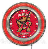 Maryland Terrapins Neon Clock