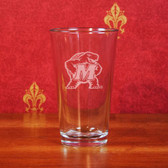 Maryland Terrapins Deep Etched Pub Pint Glass