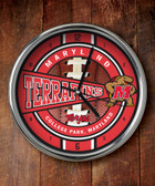 Maryland Terrapins Chrome Clock
