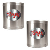 Maryland Terrapins 2pc Stainless Steel Can Holder Set