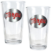Maryland Terrapins 2pc Pint Ale Glass Set