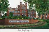 Marshall University Lithograph