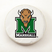 Marshall Thundering Herd White Tire Cover, Large