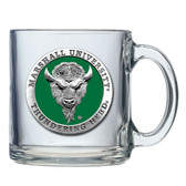 Marshall Thundering Herd Logo Clear Coffee Mug Set