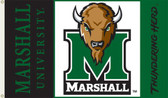 Marshall Thundering Herd 3 Ft. x 5 Ft. Flag w/Grommets