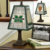 """Marshall Thundering Herd 14"""" Art Glass Lamp"""