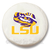 LSU Tigers White Tire Cover, Large