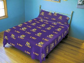 LSU Tigers Solid Sheet Set (King)