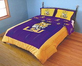 LSU Tigers Reversible Comforter Set (King)