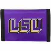 LSU Tigers Nylon Trifold Wallet