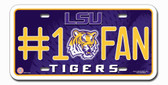 LSU Tigers License Plate - #1 Fan