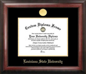 LSU Tigers Gold Embossed Diploma Frame