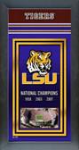 LSU Tigers Framed Championship Banner