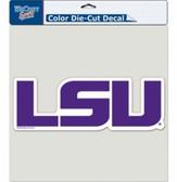 """LSU Tigers Die-Cut Decal - 8""""x8"""" Color Logo"""