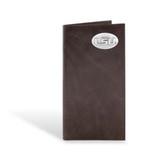 LSU Tigers Brown Wrinkle Leather Long Roper Wallet