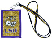 LSU Tigers Beaded Lanyard Wallet