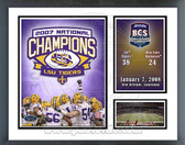 LSU Tigers BCS Champs Milestones & Memories Framed Photo