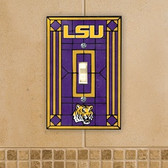 LSU Tigers Art Glass Switch Cover