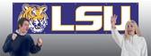 LSU Tigers 8' Banner