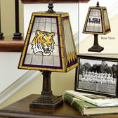 "LSU Tigers 14"" Art Glass Table Lamp"