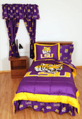 LSU Bed in a Bag King - With Team Colored Sheets