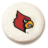 Louisville Cardinals White Tire Cover, Large