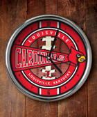 Louisville Cardinals Chrome Clock