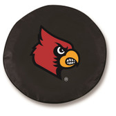Louisville Cardinals Black Tire Cover, Large