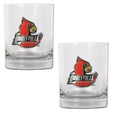 Louisville Cardinals 2pc Rocks Glass Set