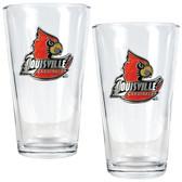 Louisville Cardinals 2pc Pint Ale Glass Set
