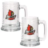 Louisville Cardinals 2pc Glass Tankard Set