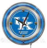 Kentucky Wildcats UK Logo Neon Clock