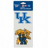 Kentucky Wildcats Set of 2 Die Cut Decals