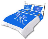 Kentucky Wildcats Reversible Comforter Set (King)