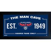 Philadelphia 76ers Man Cave Sign 6x12 Framed