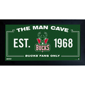 Milwaukee Bucks Man Cave Sign 10x20 Framed Photo