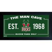 Milwaukee Bucks Man Cave Sign 6x12 Framed Photo