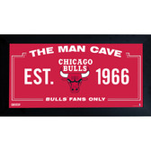 Chicago Bulls Man Cave Sign 6x12 Framed Photo