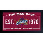 Cleveland Cavaliers Man Cave Sign 10x20 Framed Photo