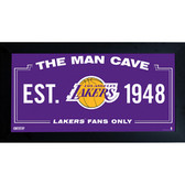 Los Angeles Lakers Man Cave Sign 6x12 Framed Photo